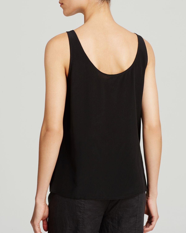 Cheap Online Free Shipping Amazon Eileen Fisher Silk Scoop-Neck Tank Fashionable Online 5Zbfkun4hd