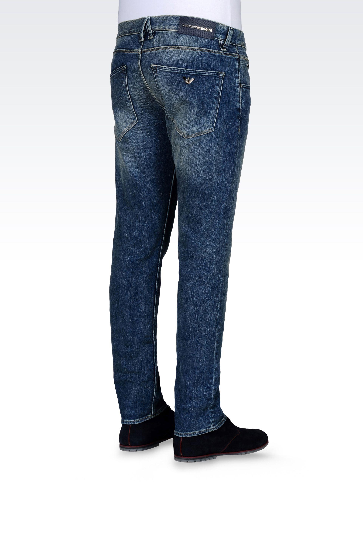 Lyst - Emporio Armani Jeans Slim Fit Medium Wash In Blue For Men