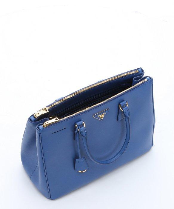 Prada Cobalt Blue Saffiano Leather Top Handle Bag in Blue (cobalt ... - Prada briefcase baltic blue