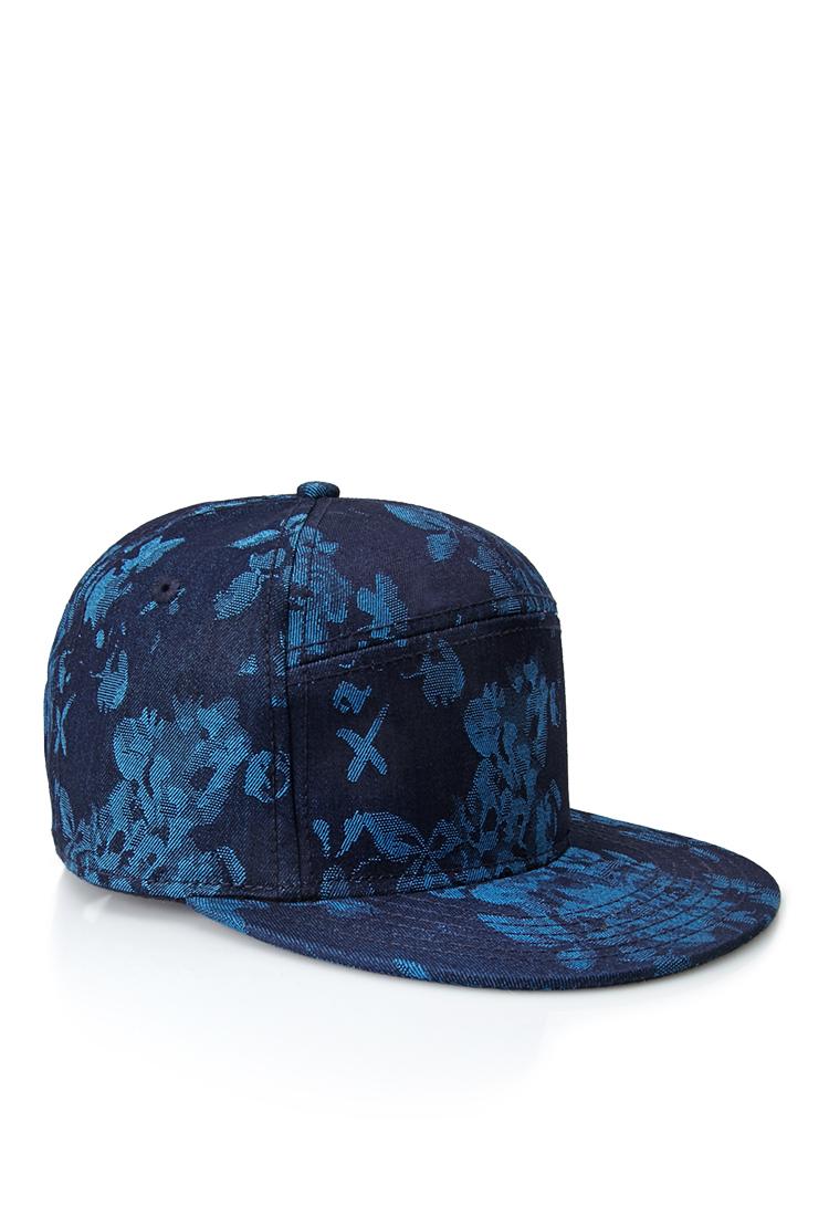 Forever 21 Paneled Floral Snapback Hat in Blue for Men | Lyst