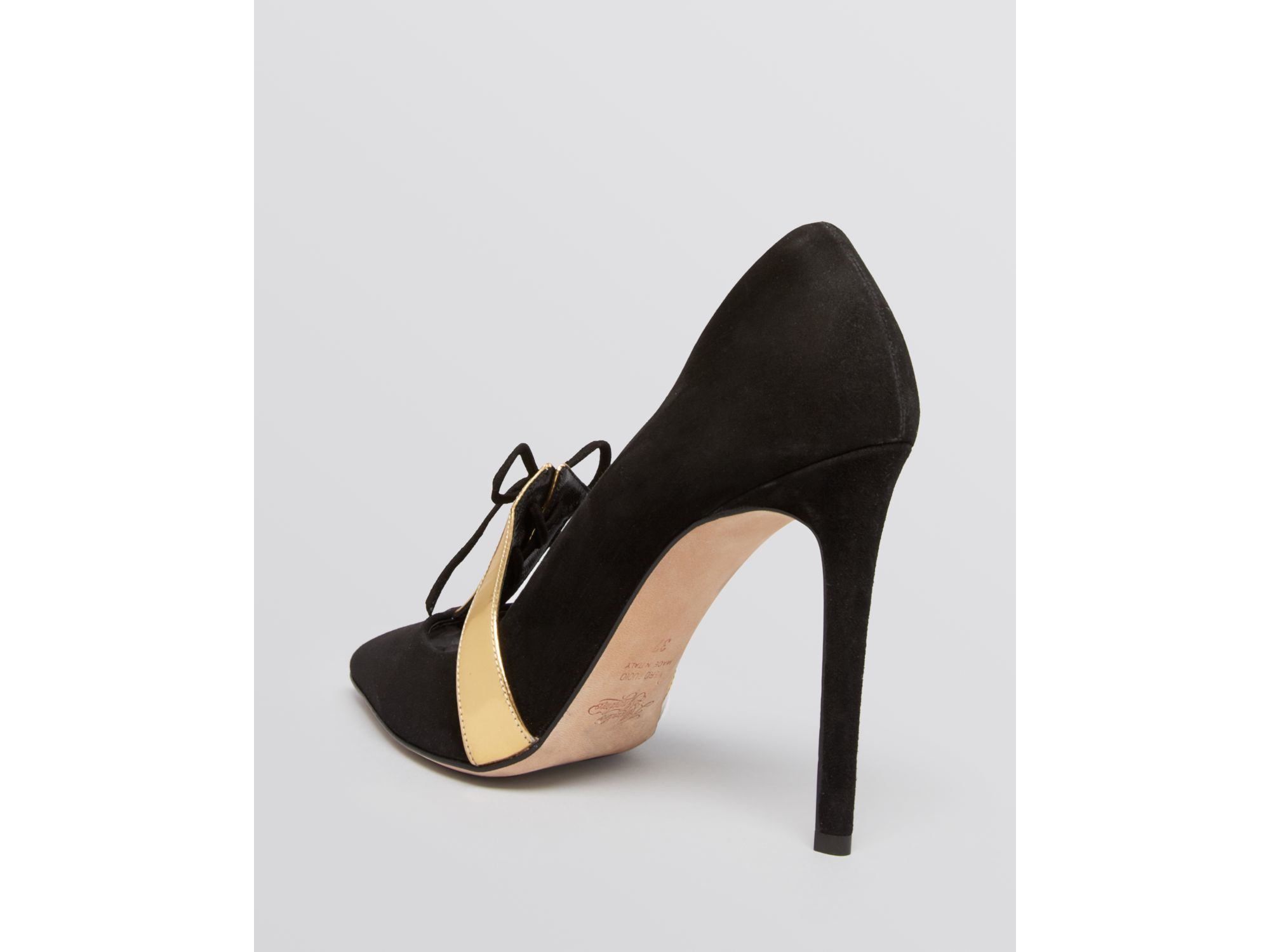 f4e6246404 Alejandro Ingelmo Pointed Toe Lace Up Oxford Pumps - Charlie High ...