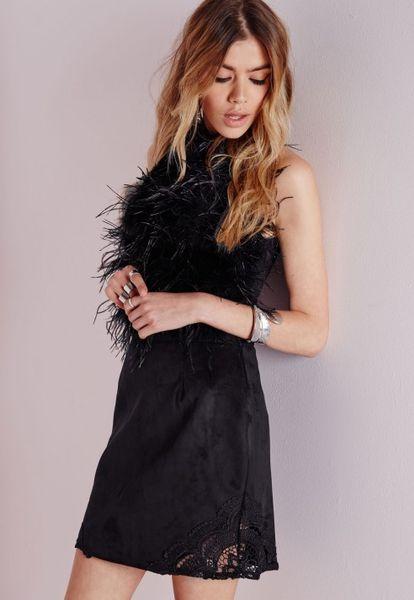 Zara Black Skirt With Lace Trim 86