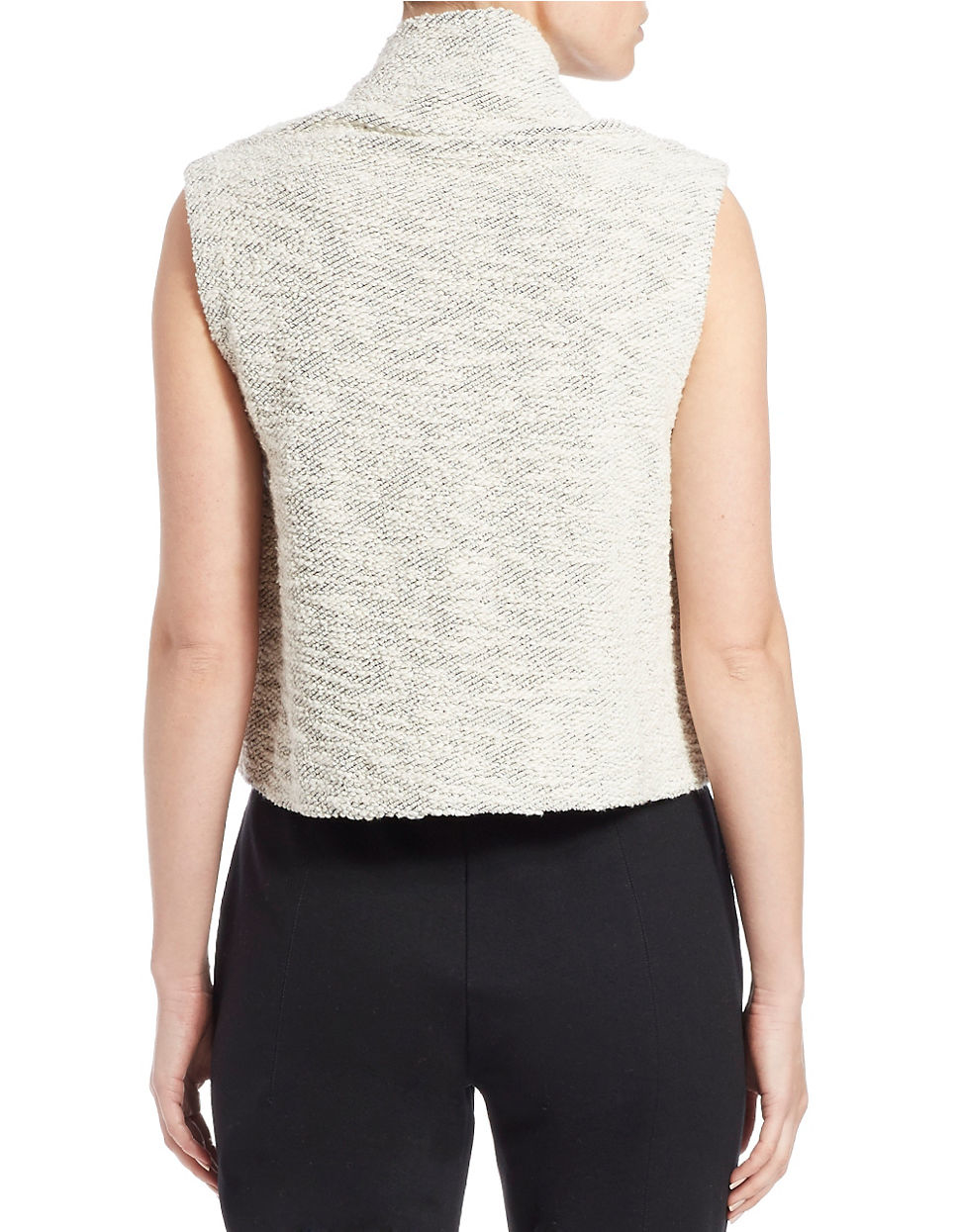 Lyst Eileen Fisher Petite Boxy Cotton Cowlneck Sweater