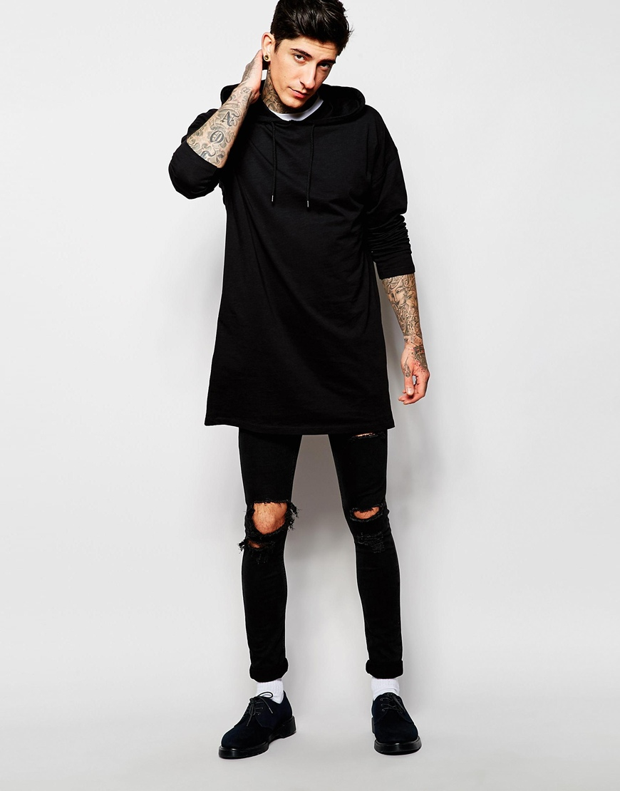 Asos Oversized Super Longline Long Sleeve T-shirt With ...