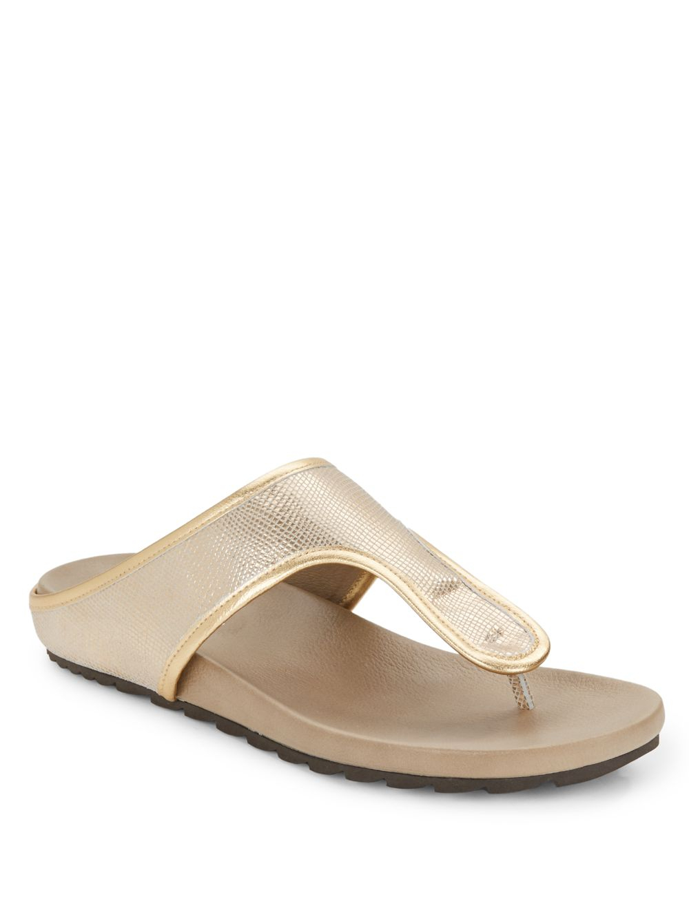 Donald J Pliner Embellished Thong Sandals