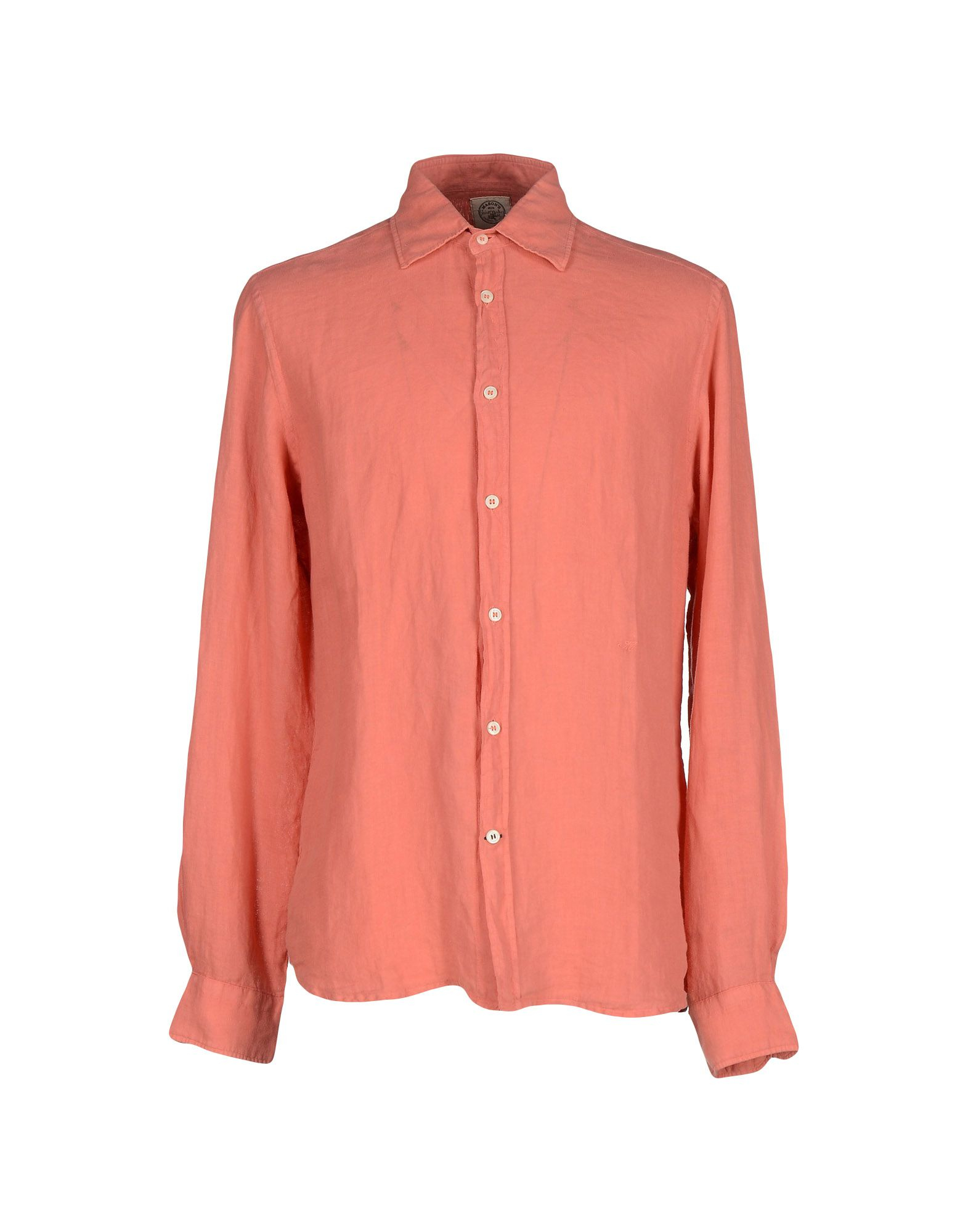 Mason 39 s shirt in pink for men salmon pink save 23 lyst for Mason s men s shirts