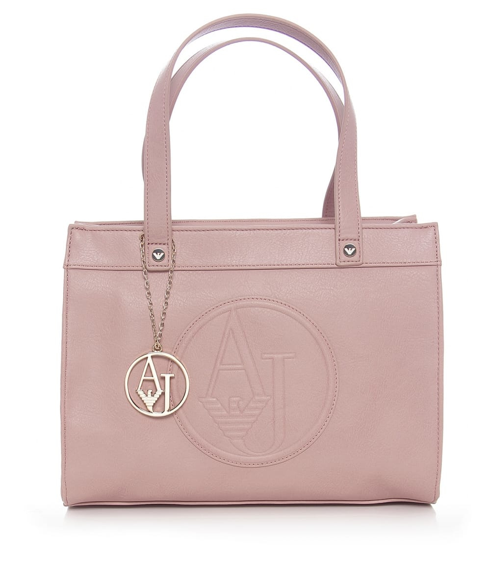 615f670cf0e9 Lyst - Armani Jeans Small Faux Leather Shopper Bag in Pink