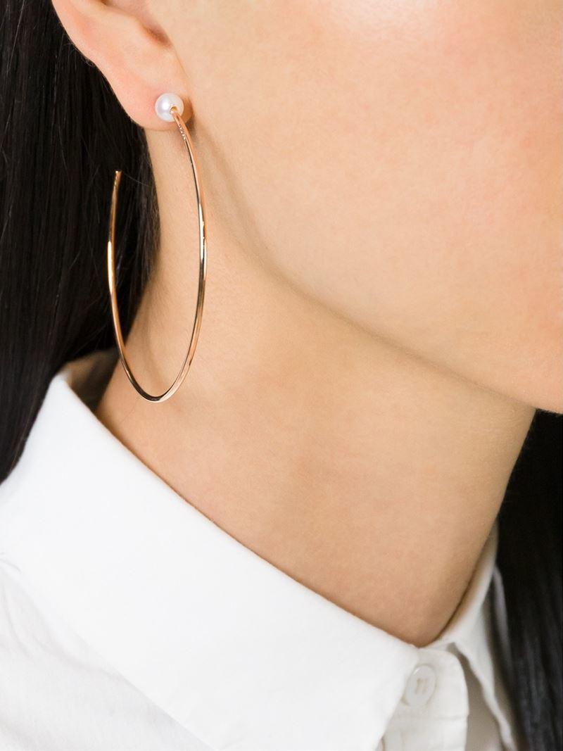 Vita Fede Sfera Pearl Stud Hoop Earrings 5cyJw