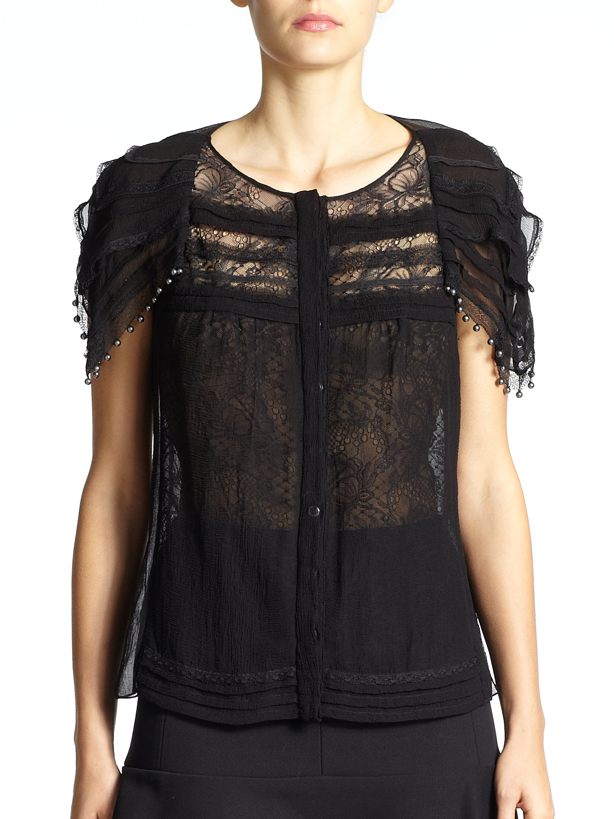 Exclusive With Mastercard Cheap Online Lace top Nina Ricci dTDIkjPA4