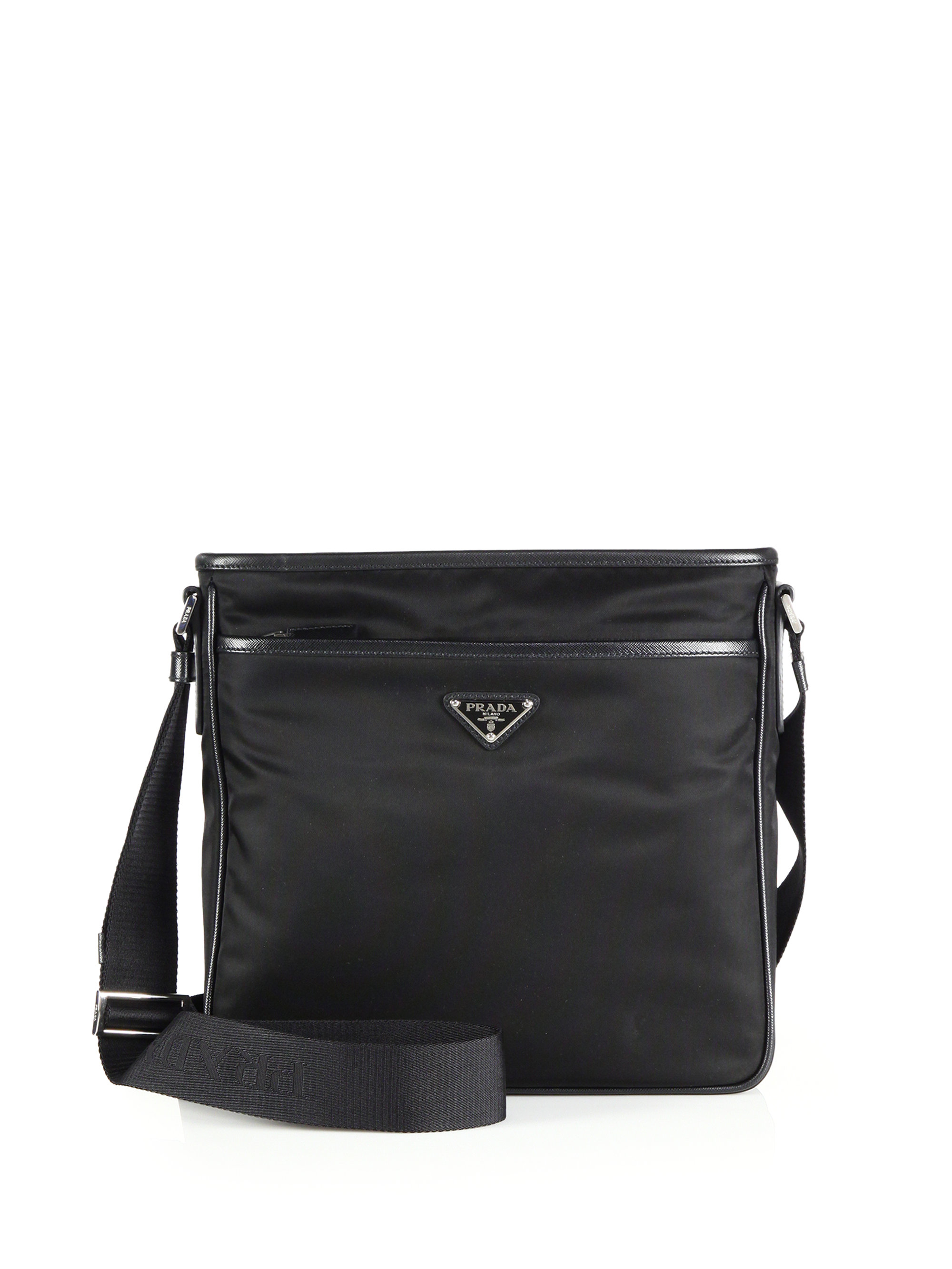 2b0e648ba2 ... cheap lyst prada nylon crossbody bag in black for men 3f52d 418b3