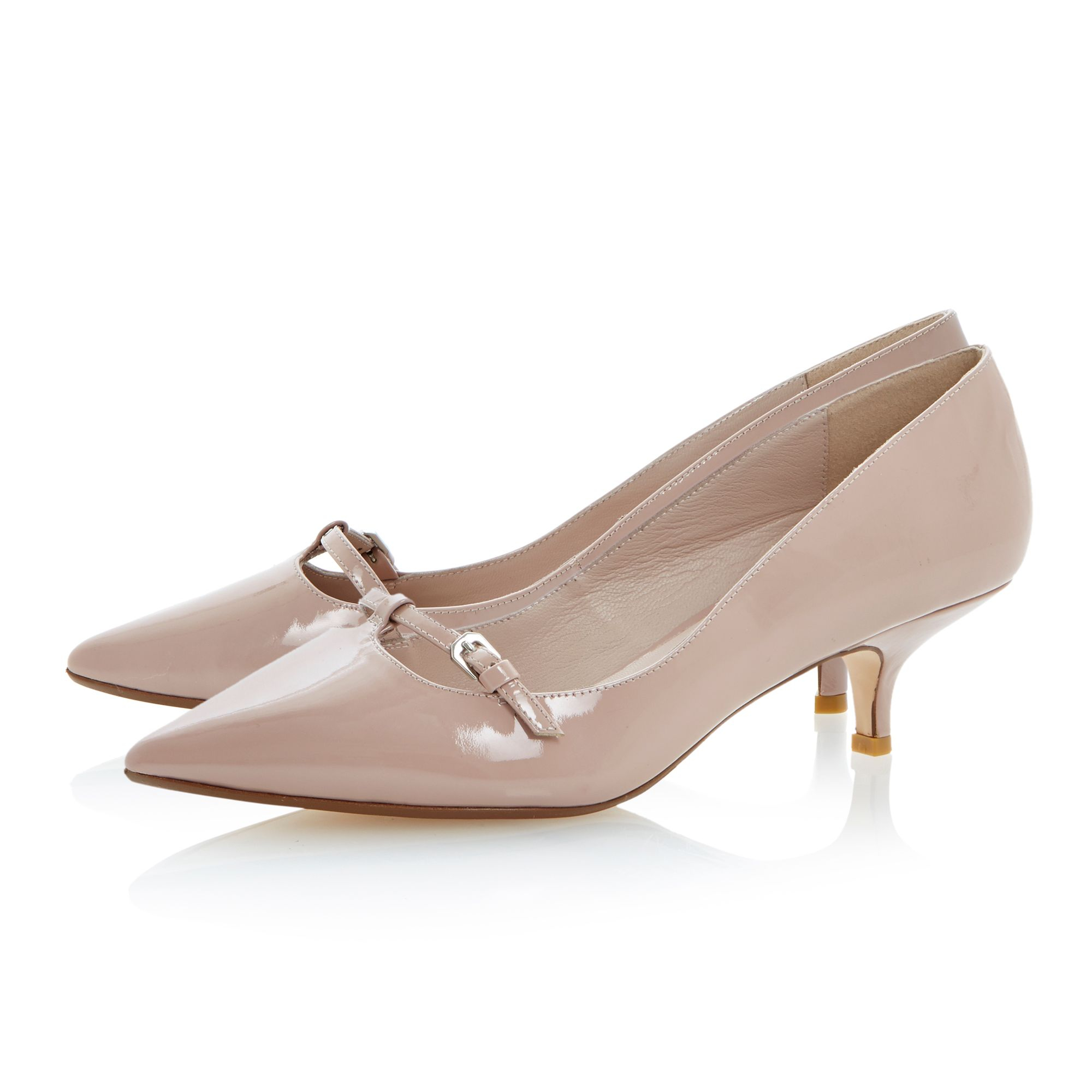 Lyst - Dune Alyce Patent Pointed Toe Kitten Heel Shoes in Pink