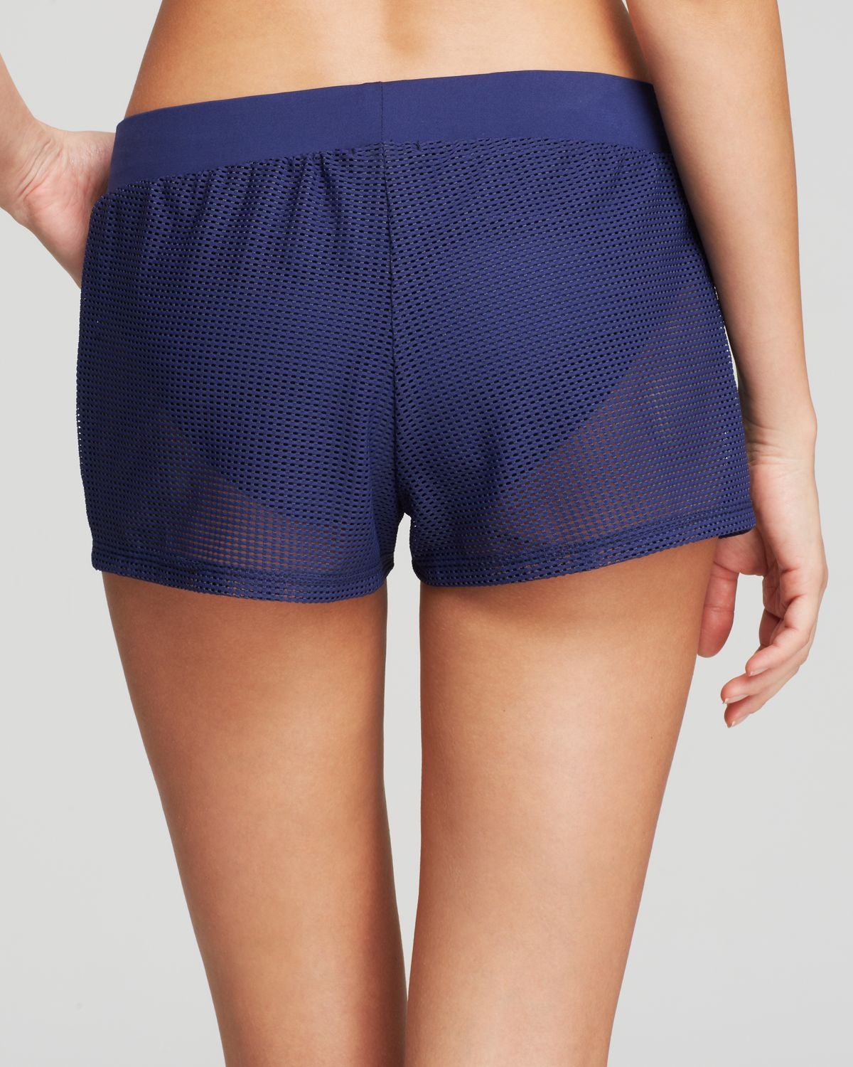 84a1adb14cdd Splendid Topanga Perforated Shorts Swim Cover Up in Blue - Lyst
