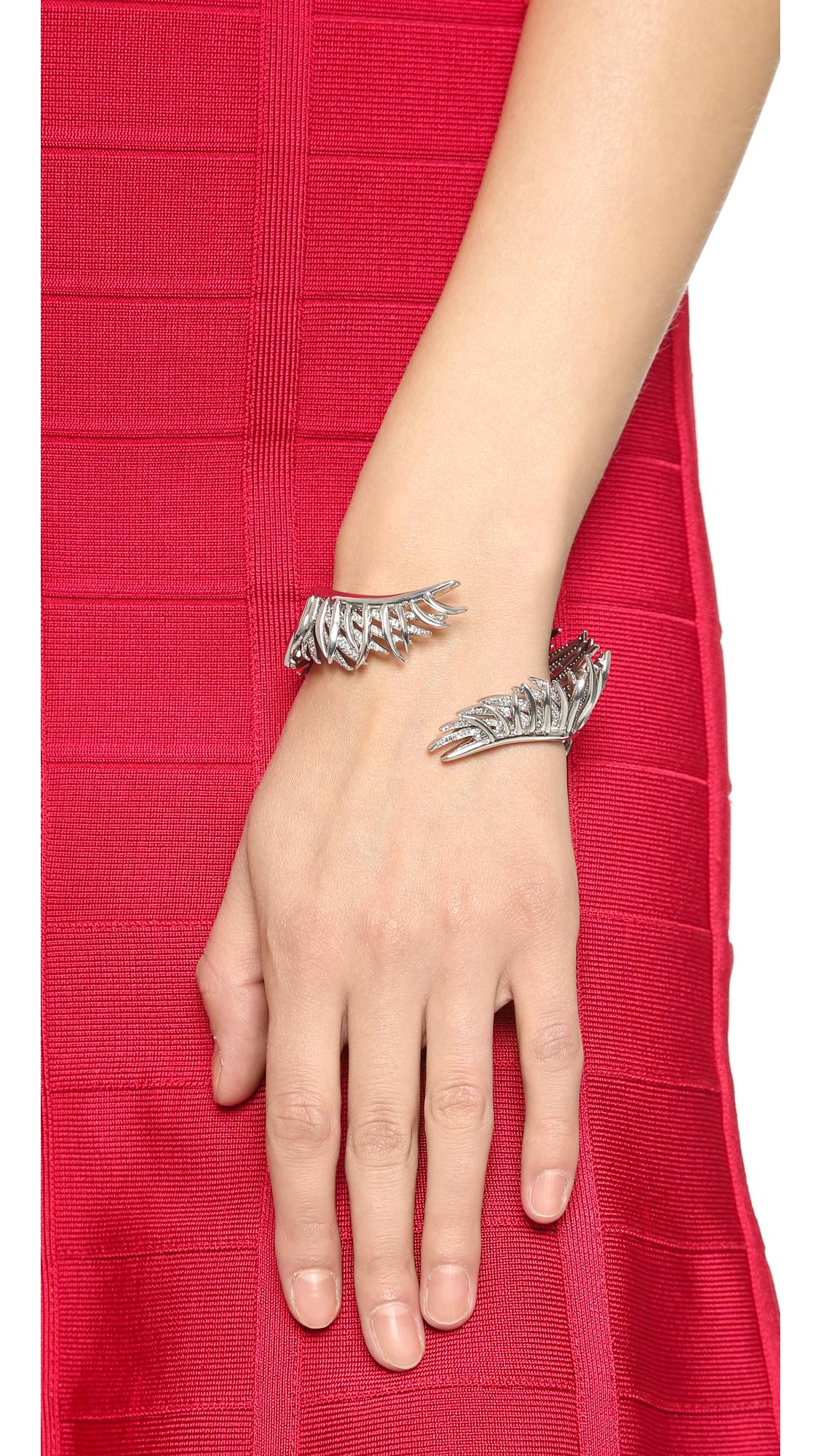 Eddie Borgo Pavé Frond Cuff Bracelet 1yZN3kWey