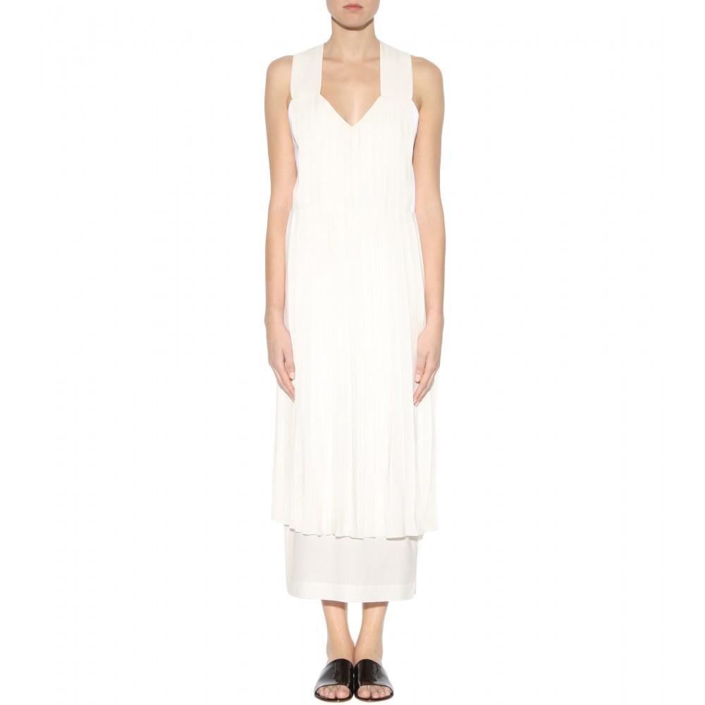 White Silk Formal Dress