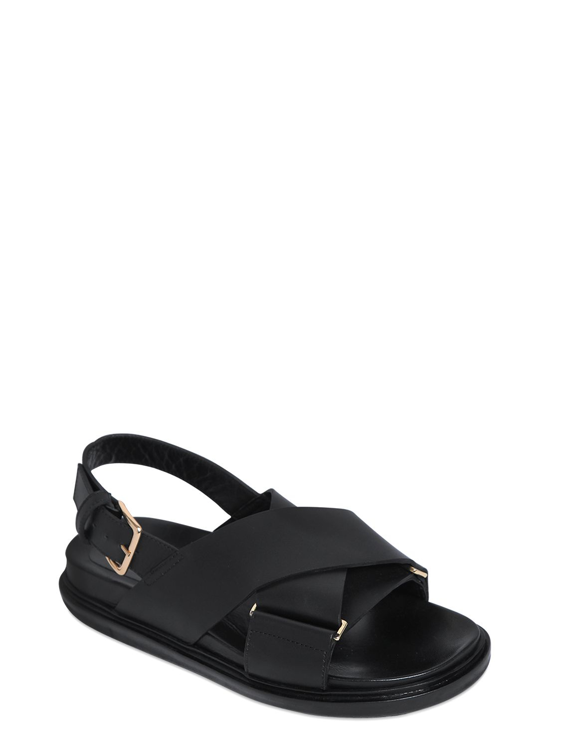 Marni 30MM CRISSCROSS LEATHER SANDALS iezO2zBqRT
