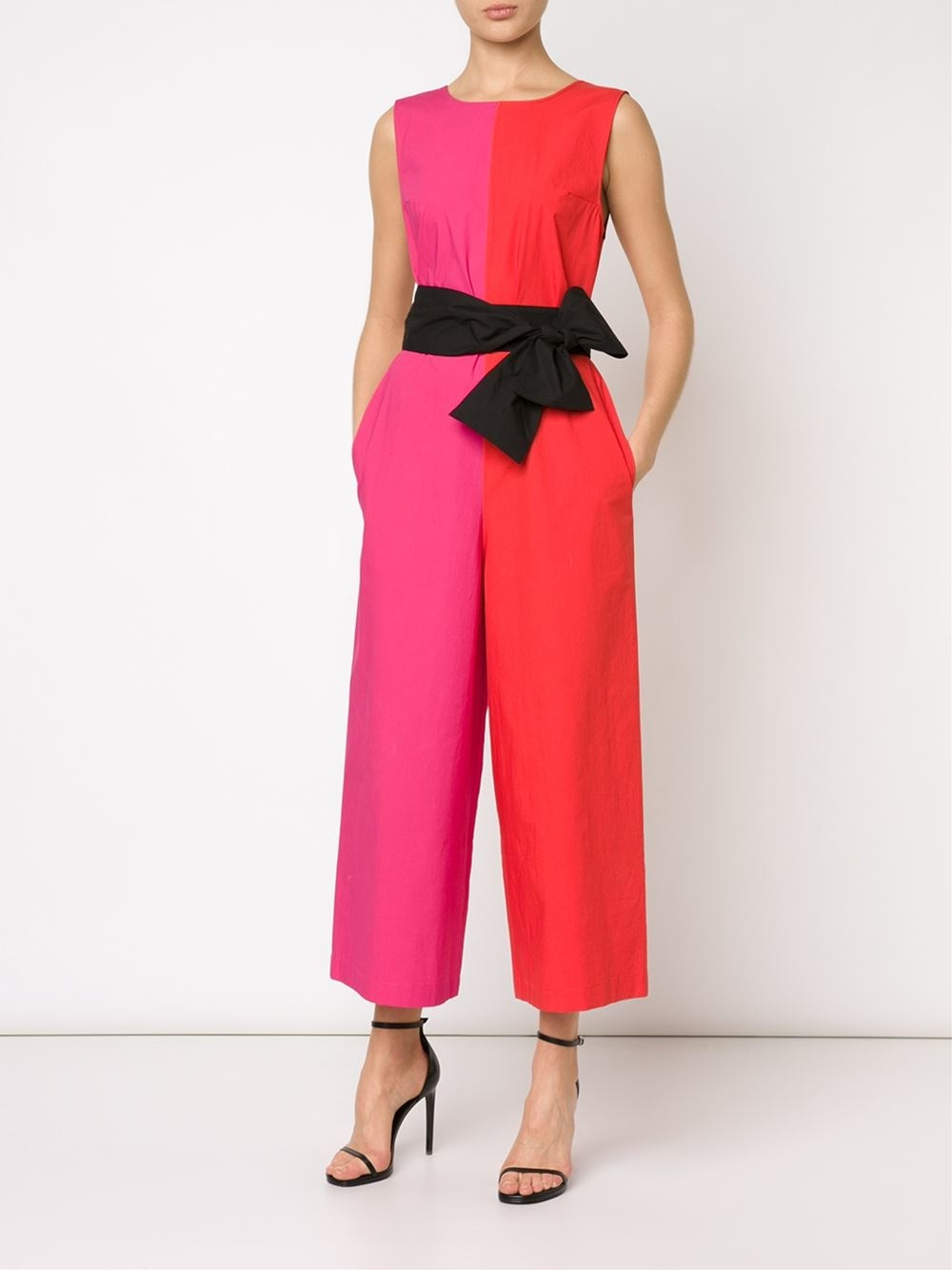 e336b44008d4 Lyst - Isa Arfen Colorblock Jumpsuit in Red