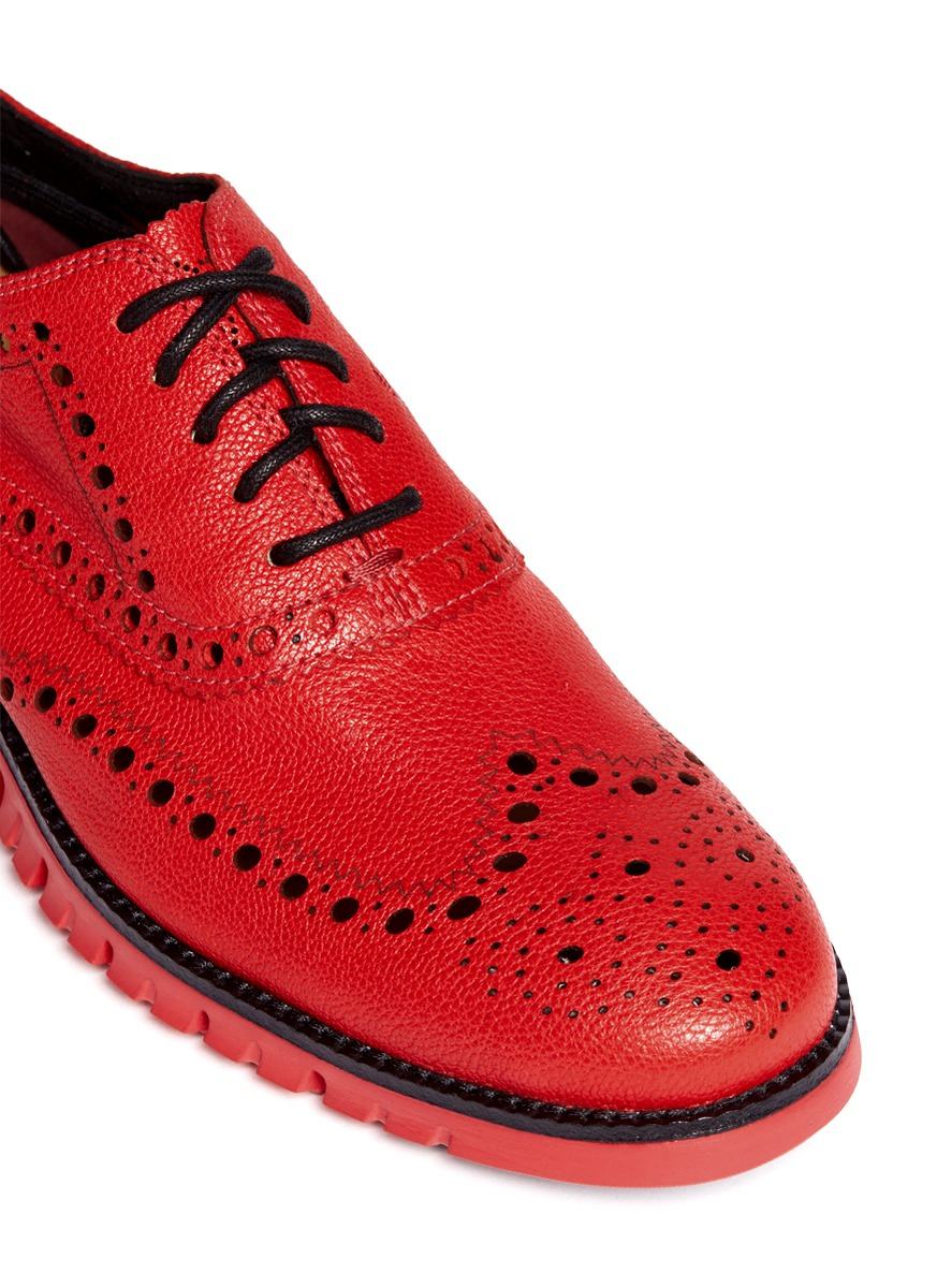878ba3d1f0 Cole Haan 'Zerogrand' Leather Oxfords in Red for Men - Lyst