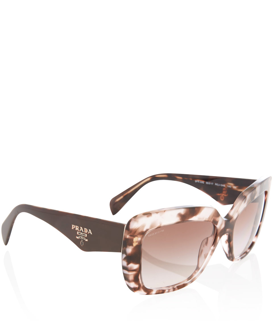 bc86a4a18f ... coupon code for lyst prada pink tortoiseshell square sunglasses in  brown 6a5fd 5777b