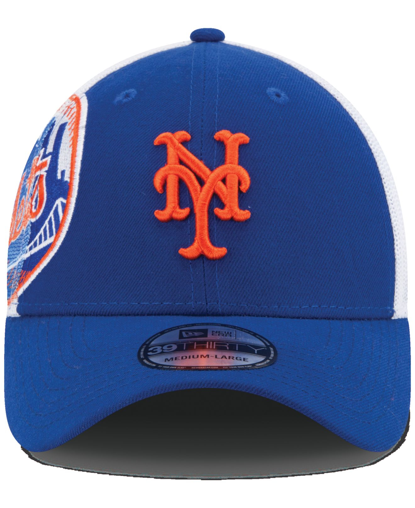 Lyst - KTZ New York Mets Double Mesh 39thirty Cap in Blue for Men 3739969d7fc