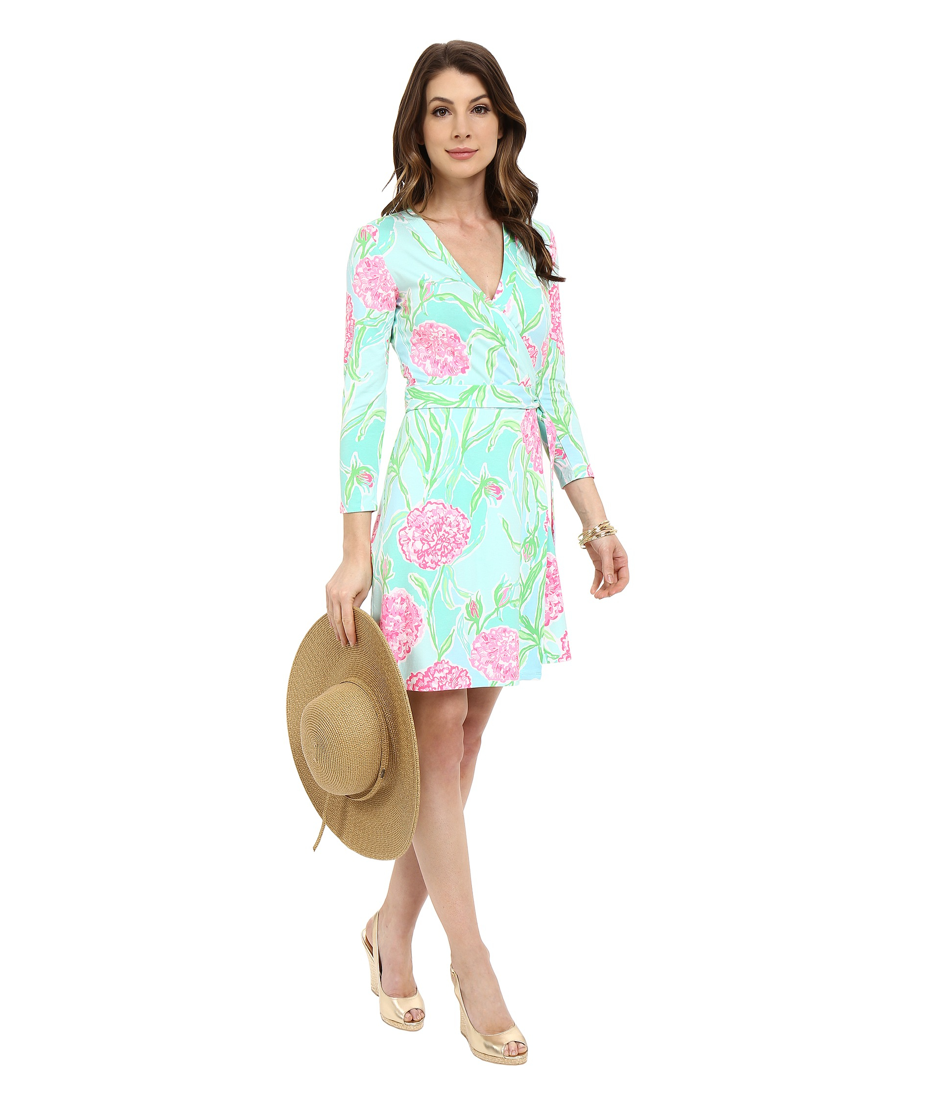 Lilly Pulitzer Meridan Wrap Dress In Blue Lyst