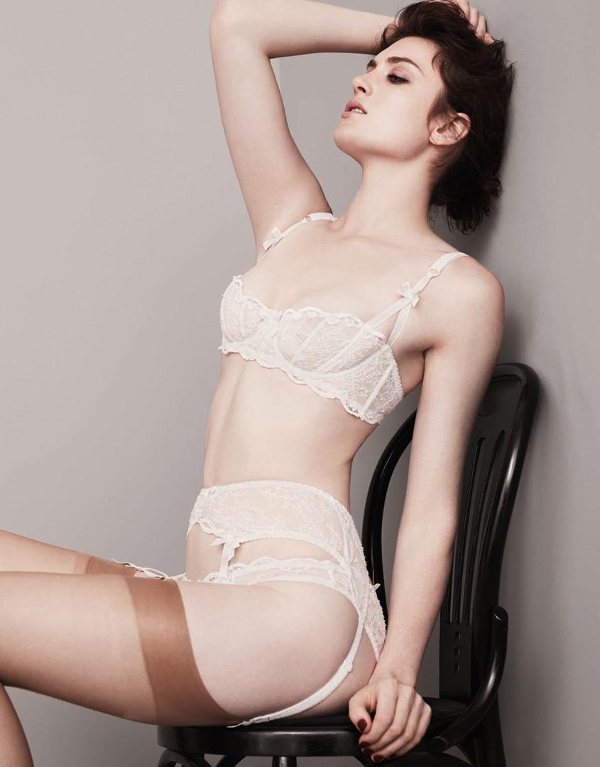 Lyst - Agent Provocateur Love Suspender in White 12ff1c8ab