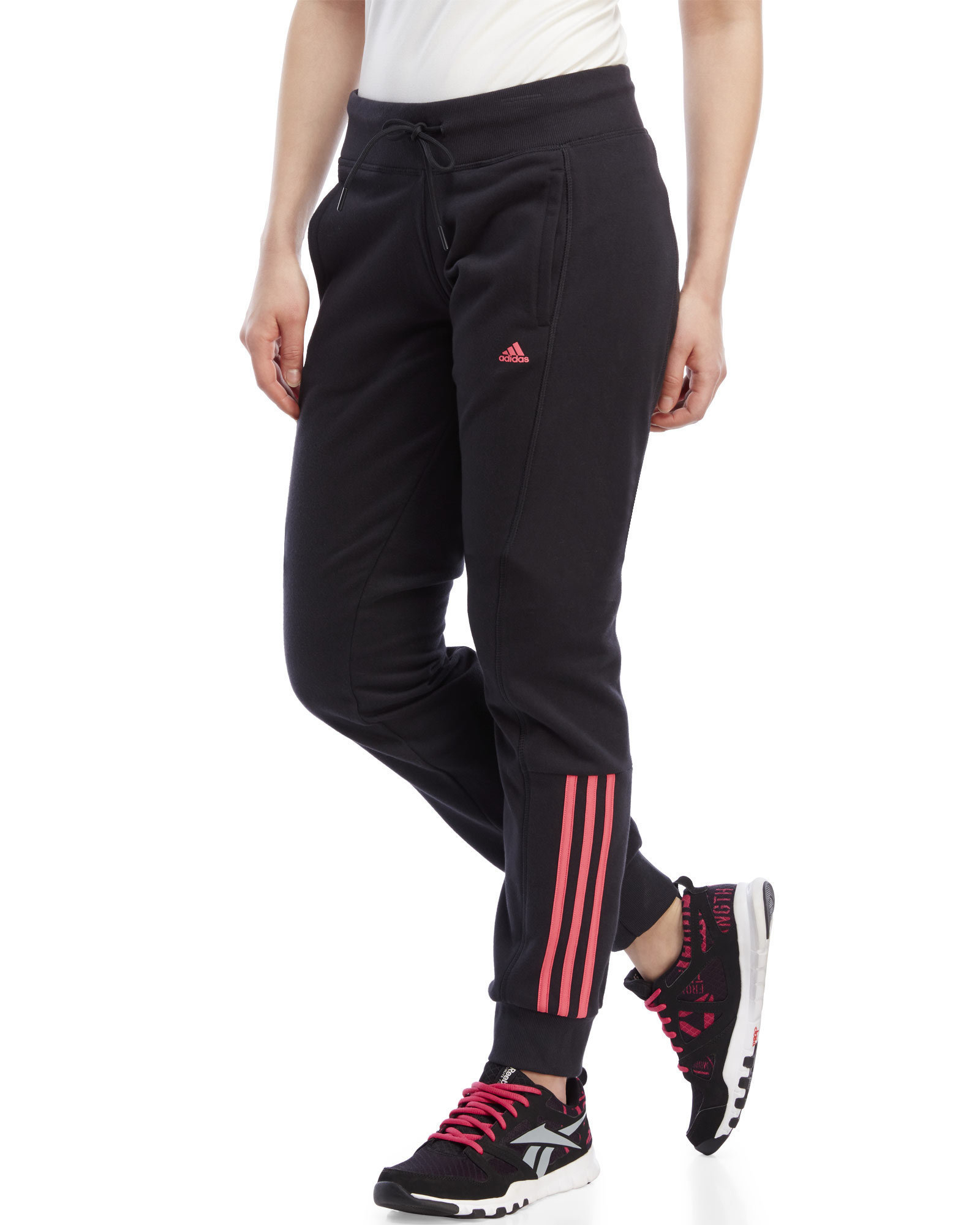c9e3cfa035a Lyst - adidas Originals Essentials Mid 3-Stripe Pants in Pink