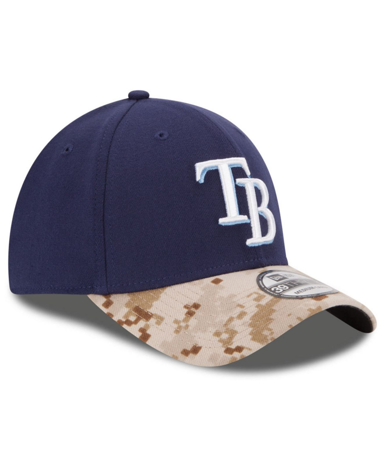 new product 13d75 28ae9 ... czech lyst ktz tampa bay rays memorial day 39thirty cap in blue for men  0f910 e6ac1