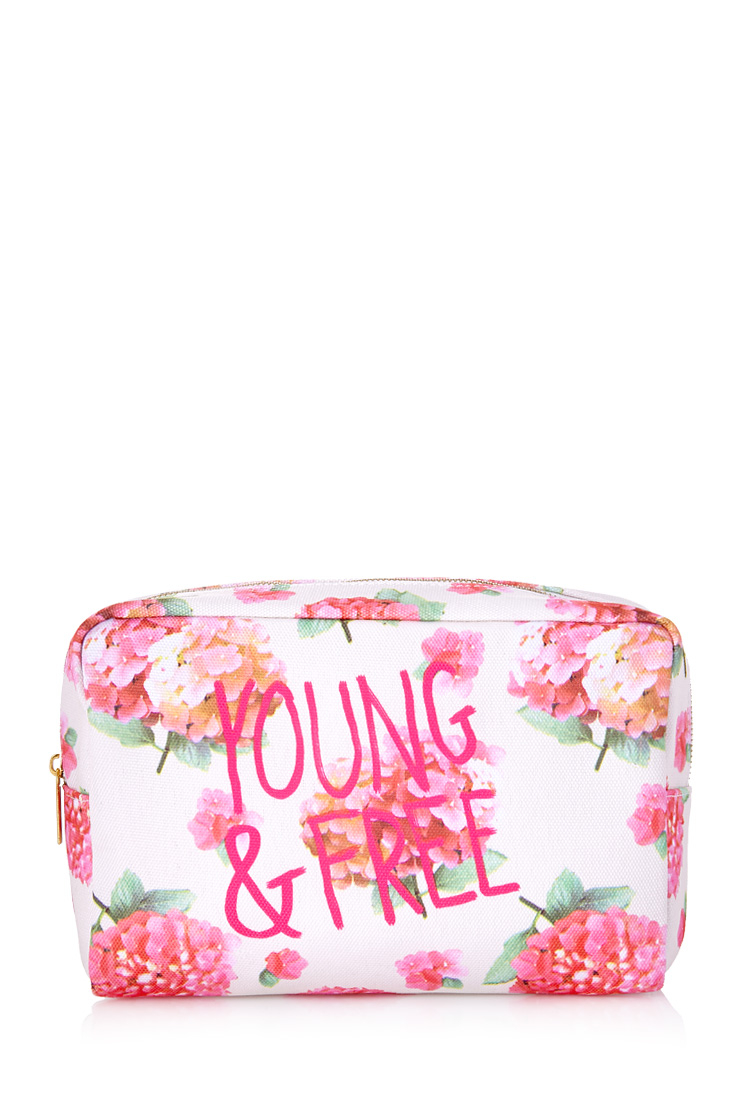 Lyst Forever Young Floral Cosmetic Bag