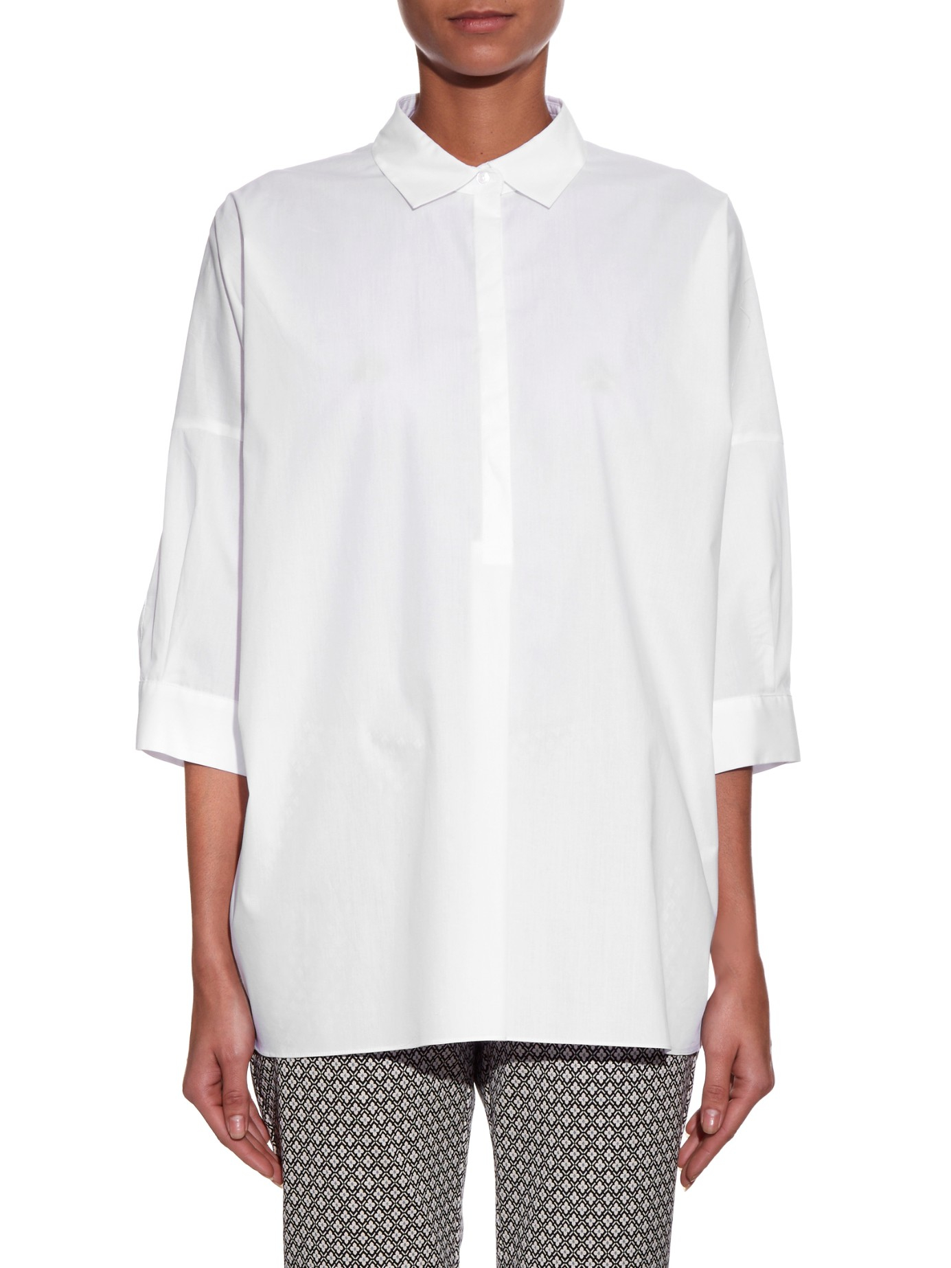 weekend by maxmara sandalo shirt in white lyst. Black Bedroom Furniture Sets. Home Design Ideas