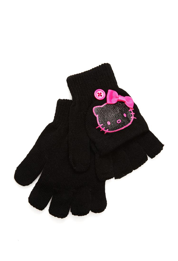 be9848a69 Forever 21 Hello Kitty Fingerless Gloves in Black - Lyst