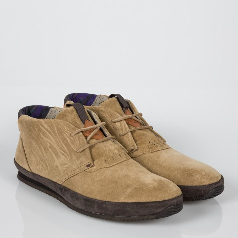 Paul smith Men's Embossed Taupe Suede 'bernofsky' Chukka Boots in ...