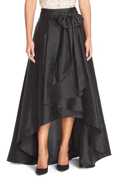 Adrianna Papell High Low Taffeta Ball Skirt In Black Lyst