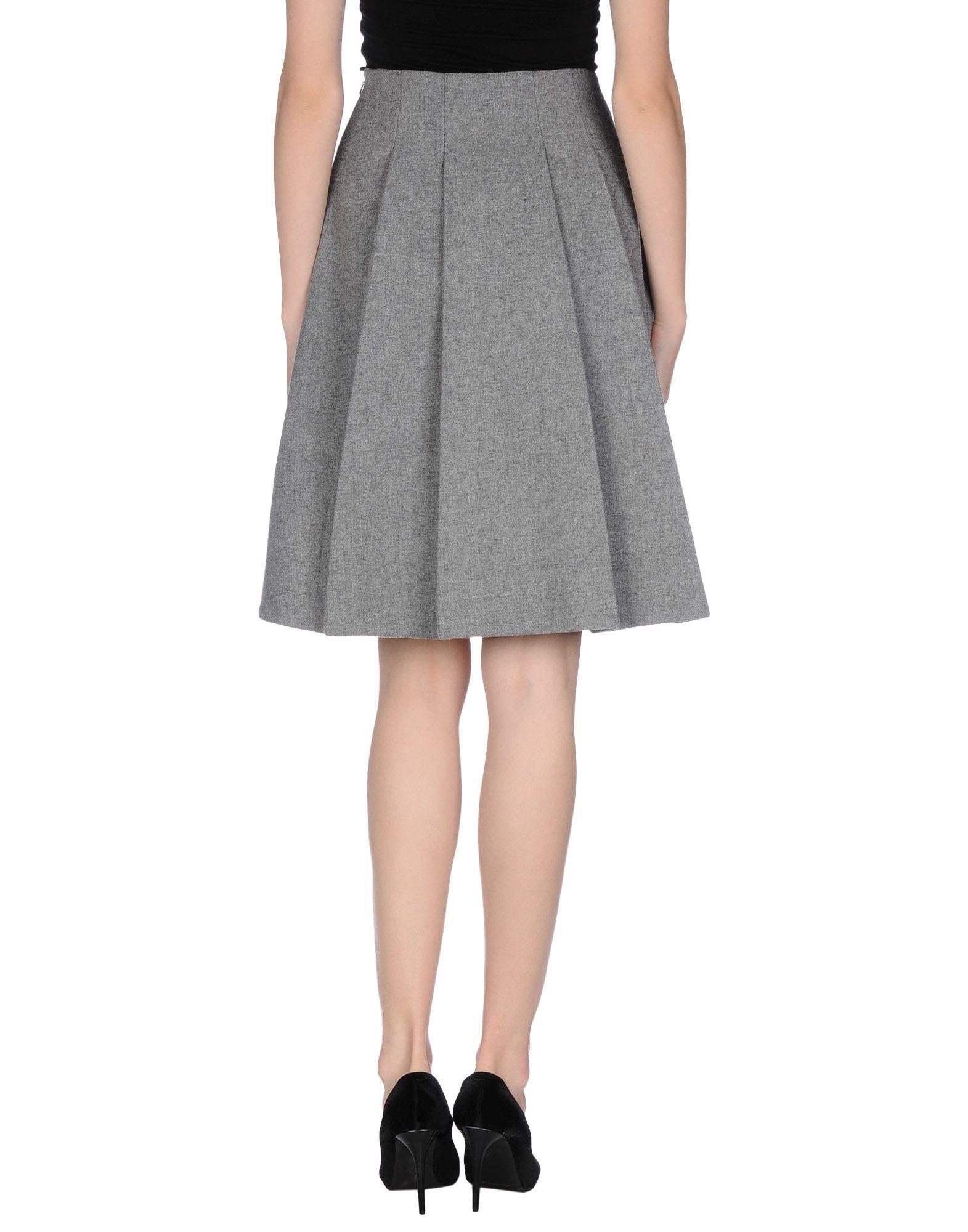 fwss knee length skirt in gray light grey save 61 lyst