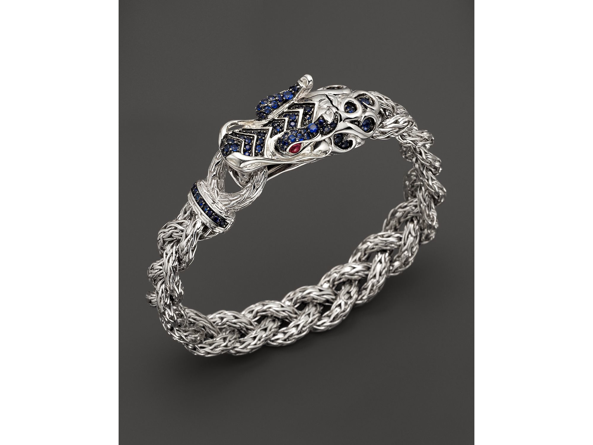 Lyst John Hardy Men S Sterling Silver Naga Small Braided