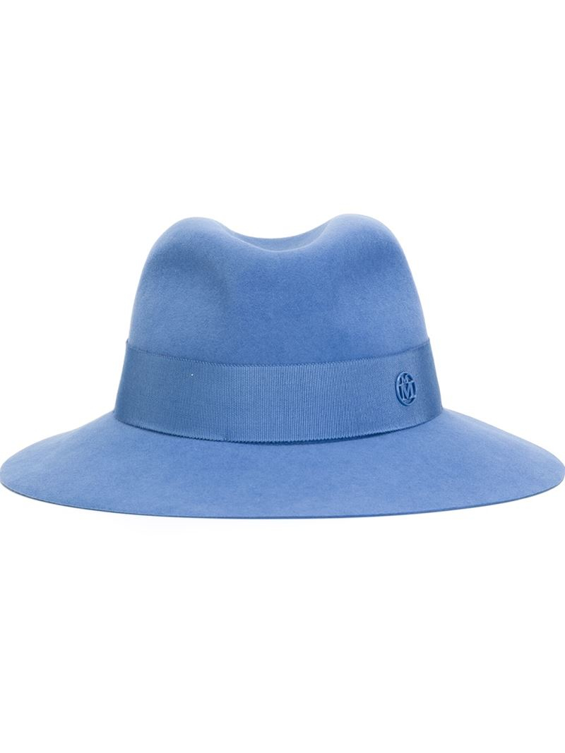 7e4abce1052 Lyst - Maison Michel Classic Fedora Hat in Blue for Men