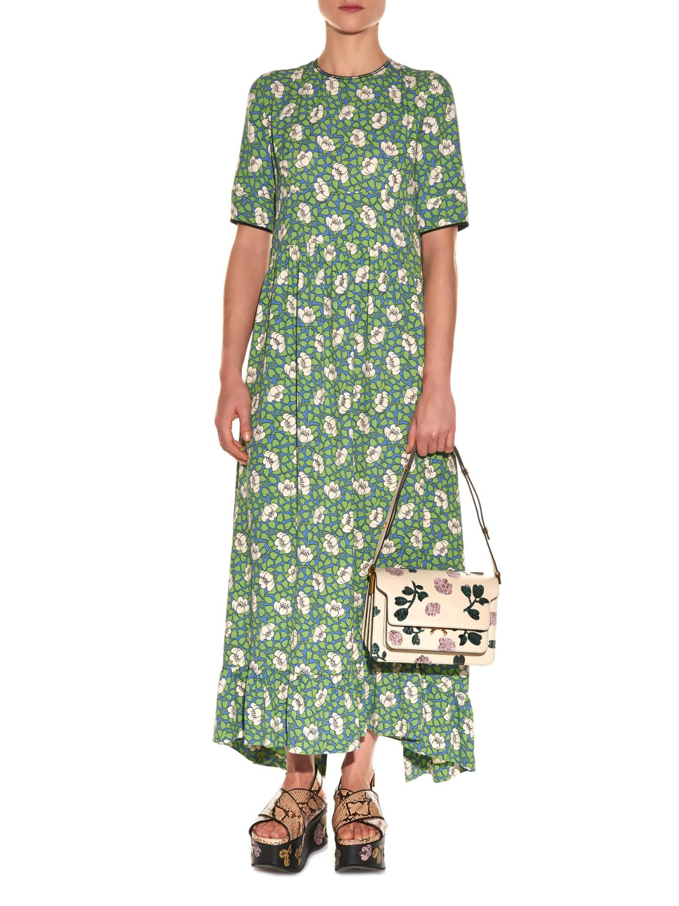 Marni floral printed dress High Quality Online Free Shipping Hot Sale Outlet Amazon Deals Cheap Price Outlet 100% Original p2B24Haz8n