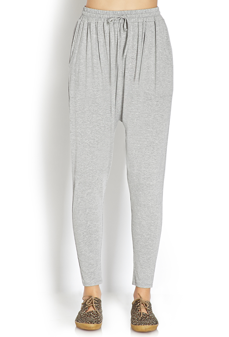 Lyst Forever 21 Off Duty Harem Pants In Gray