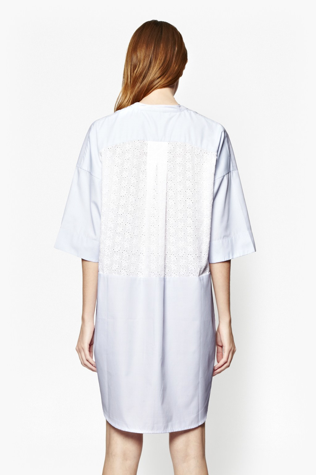 French connection albie print shirt dress in white lyst for French connection shirt dress