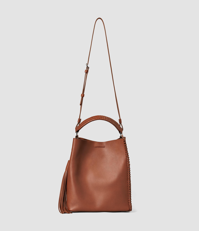 Allsaints Pearl Mini Hobo Bag in Brown