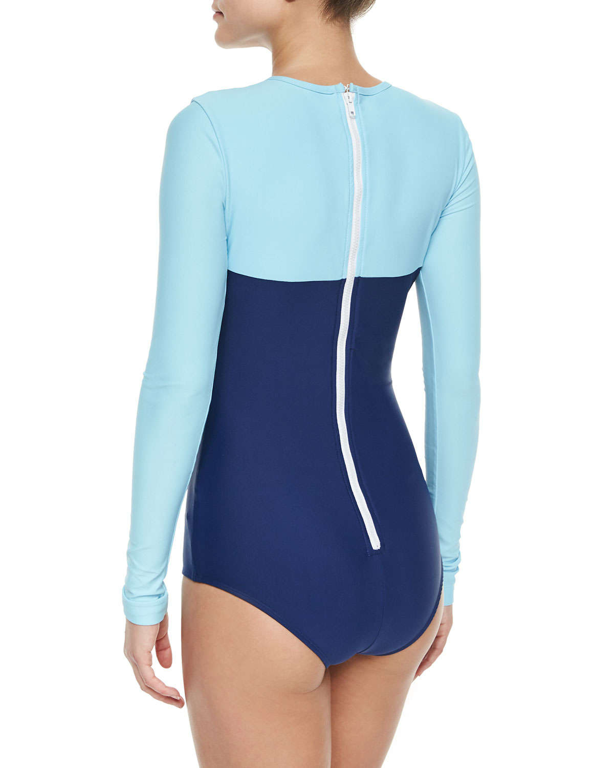 Cover Upf 50 Colorblock Sweetheart Long-sleeve Swimsuit in ...