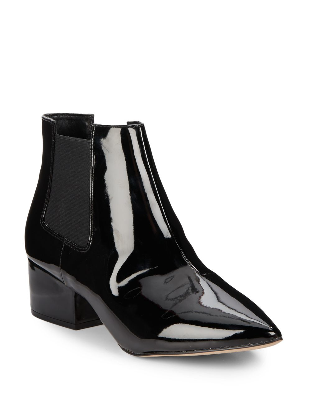 eb66086ae83 French Connection Ronan Faux Patent Leather Point Toe Chelsea Boots ...