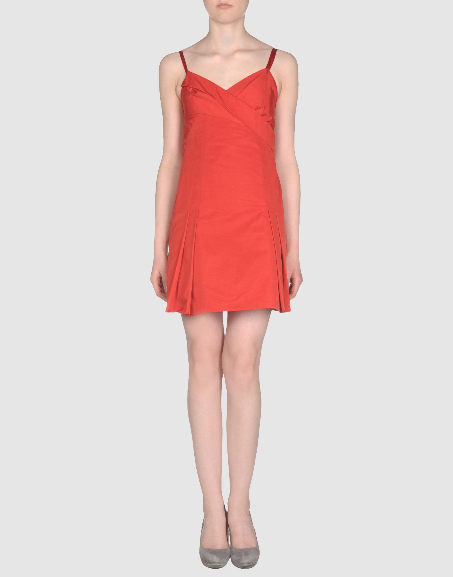 Red Valentino Spring 2016: Red Valentino Short Dress In Red