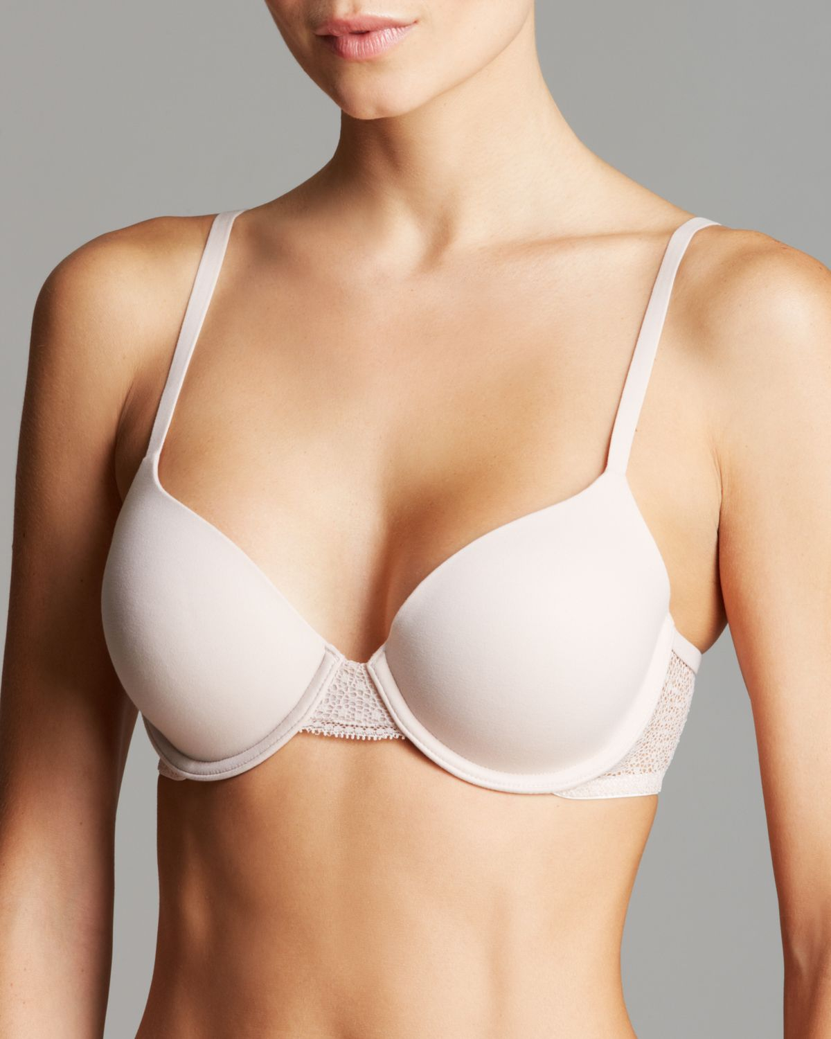 5517c026df Lyst - Calvin Klein Bra - Perfectly Fit With Lace Modern T-Shirt ...