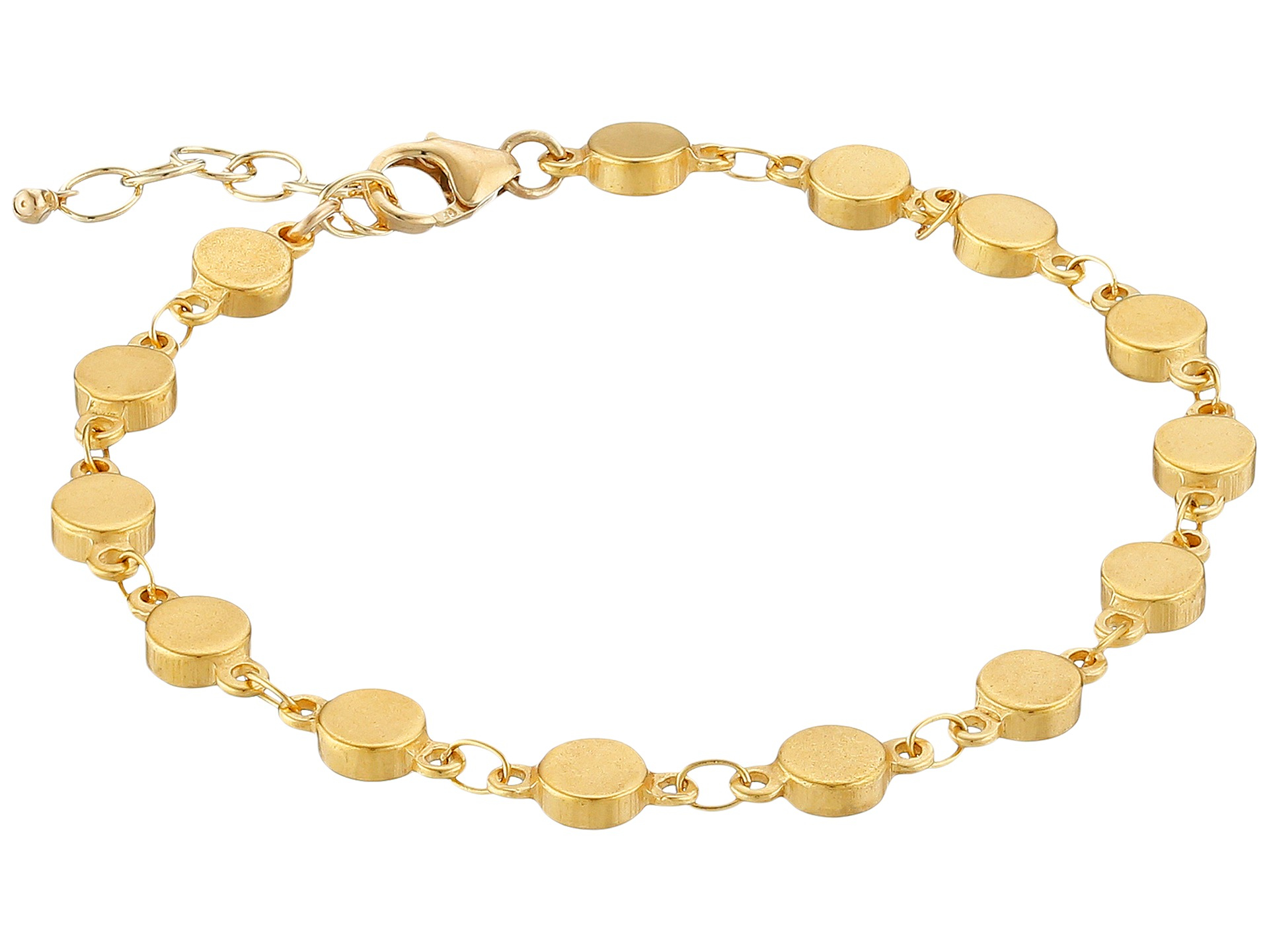 dogeared centered multi linked circle bracelet in gold
