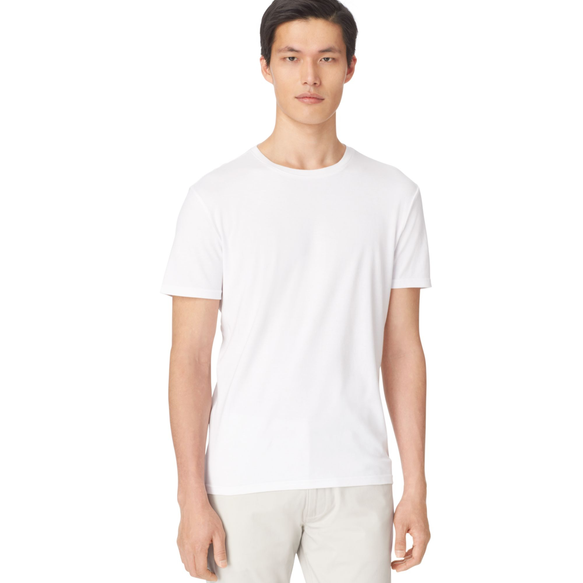 lyst calvin klein liquid cotton core t shirt in white for men. Black Bedroom Furniture Sets. Home Design Ideas