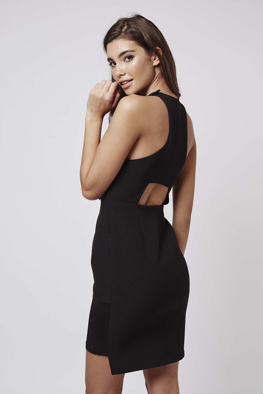 V cut black dress kendall