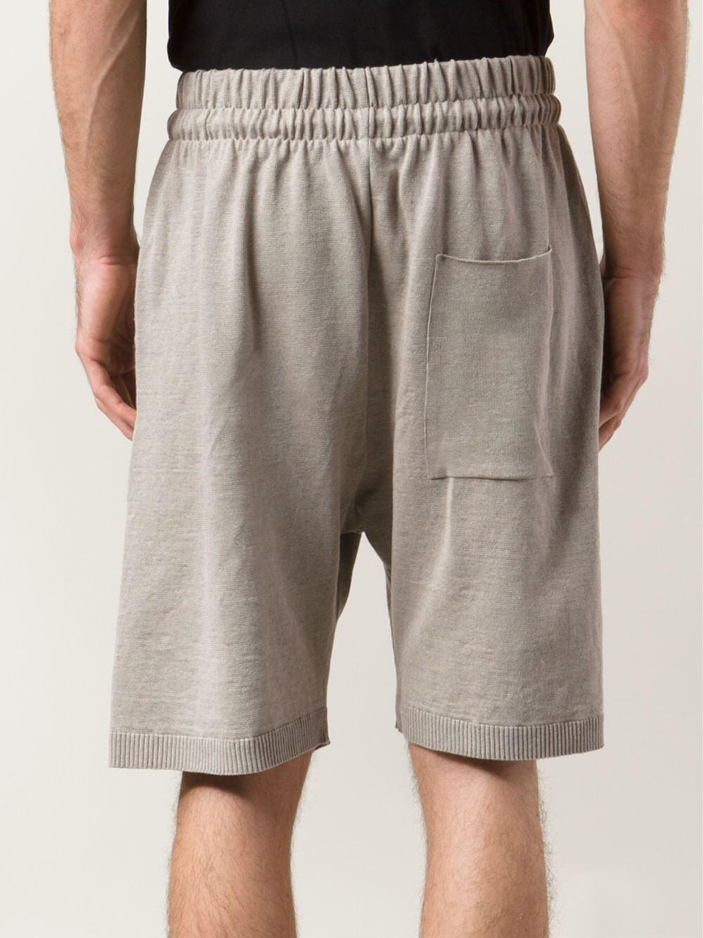 Daniel Andresen Drop-Crotch Shorts In Natural For Men  Lyst-4323