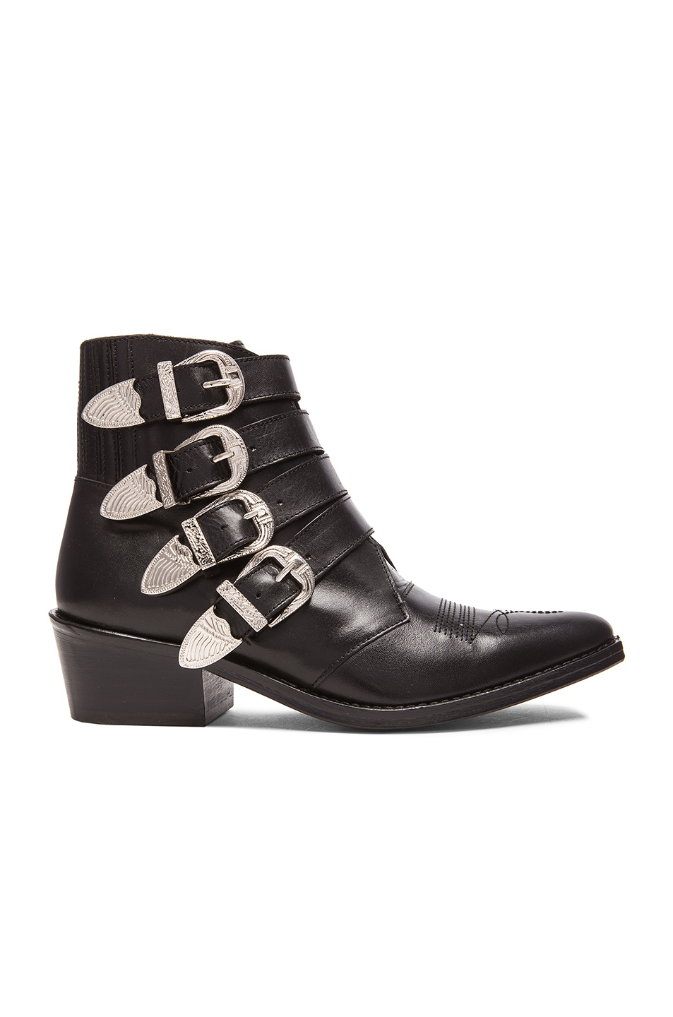 Toga pulla Leather Buckled Booties in Black   Lyst