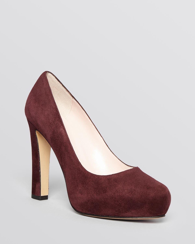d031c95eff3 Lyst - Kate Spade Almond Toe Platform Pumps - Nessie High Heel in Red