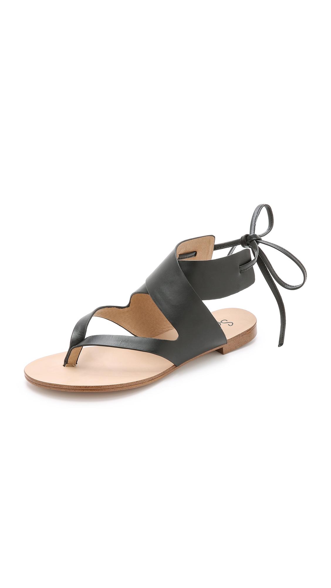 Splendid Camdyn Flat Sandals Nude In Black Lyst